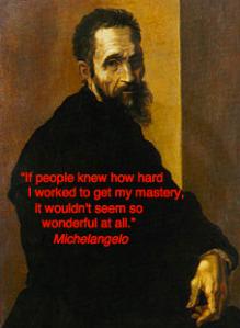 Michelangelo kunstenaar quote