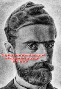 MC Escher portret quote