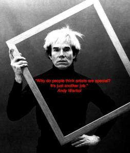 Andy Warhol quote artiest werk