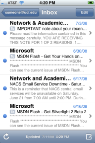 iphone mail onderwerp