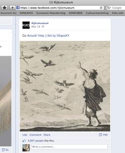 Rijksmuseum op Facebook