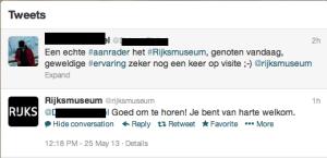 Rijksmuseum op Twitter